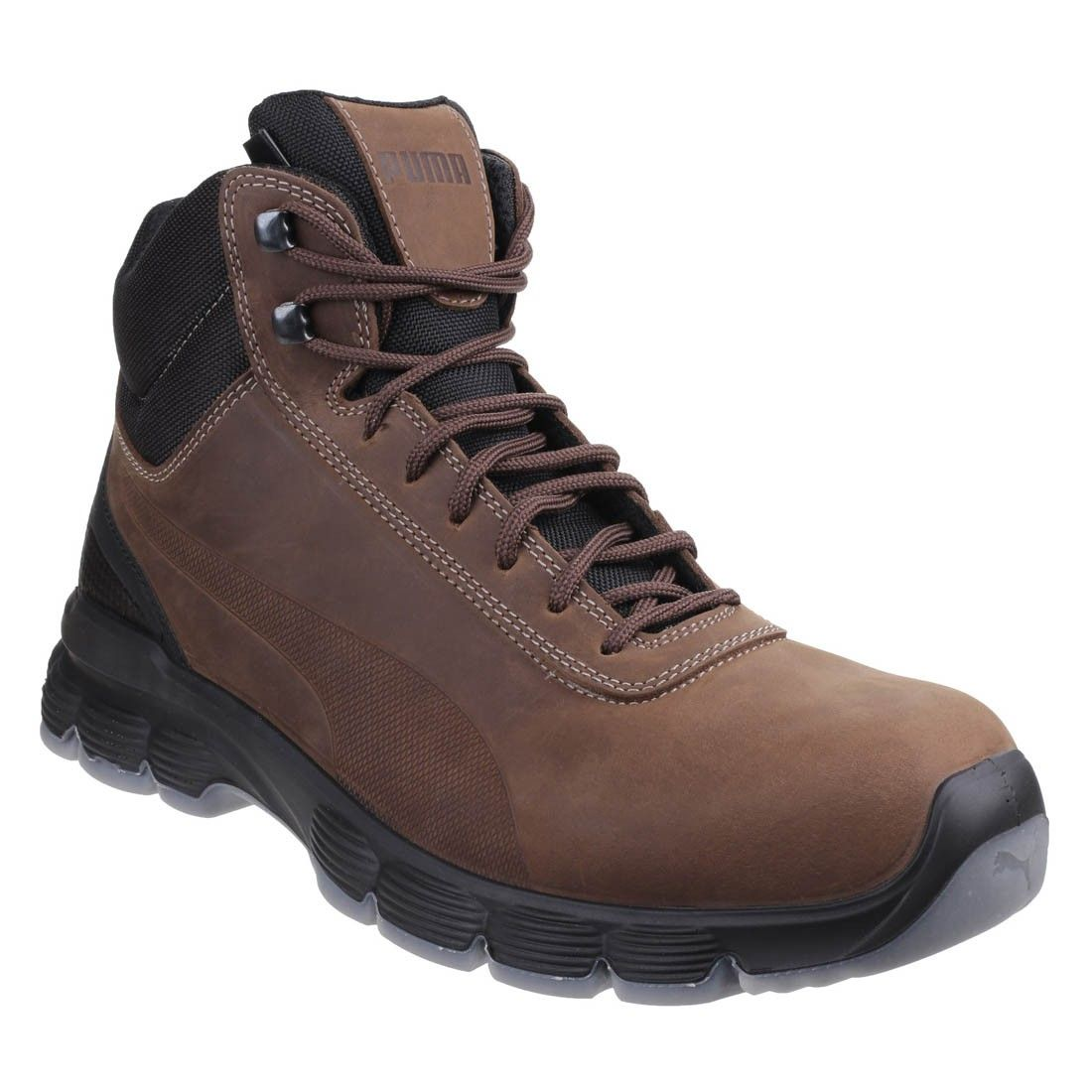 Puma Condor Mid Brown Leather Classic Hiker Style Mens