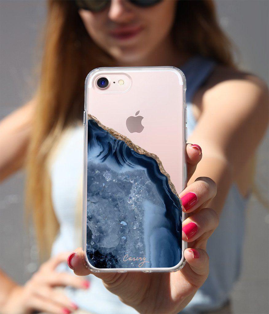 Le Cas De Téléphone Agate Bleu Foncé Casery Pour Iphone 6 Et 7 Vente Pas Cher 2018 Nouvelle 1IclYp1K