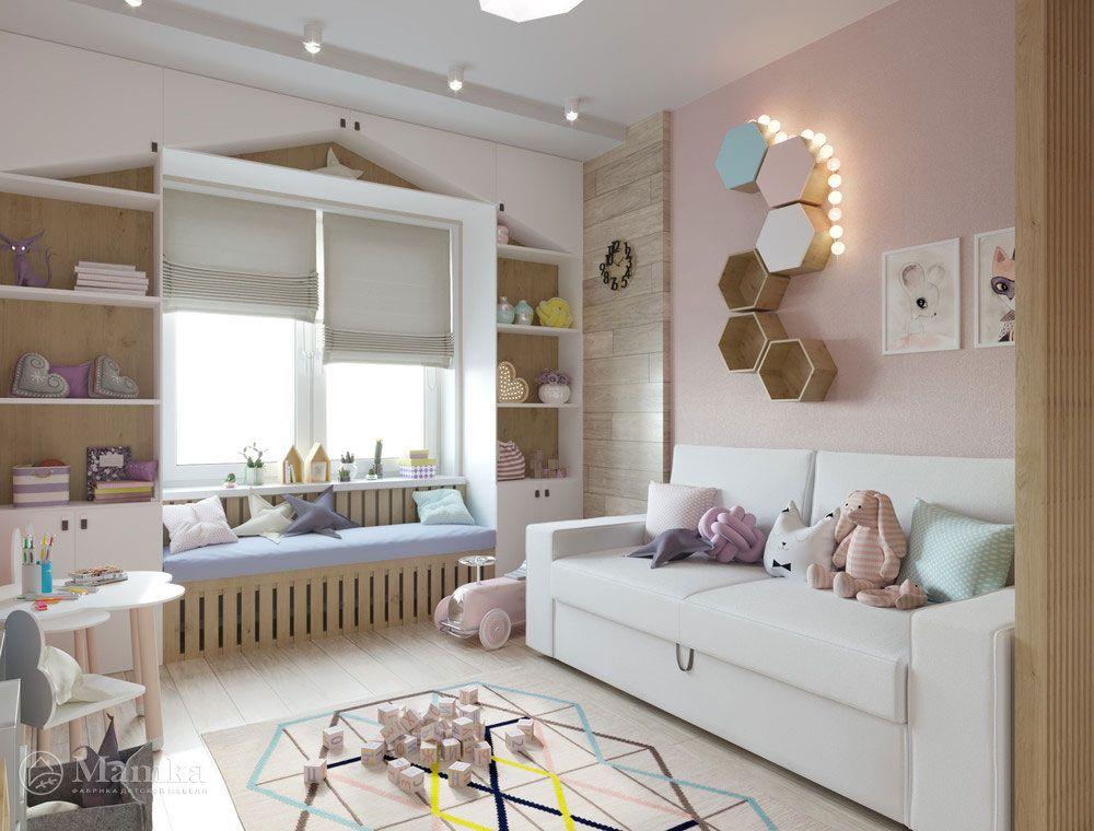 Детская комната для двух девочек - нежный и стильный ...