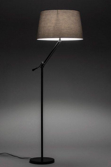 Photo of Vloerlamp 30783: Modern, Eigentijds Klassiek, Stof, Metaal