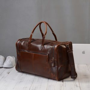Eazo Vintage Look Leather Weekend Bag Business Gifting