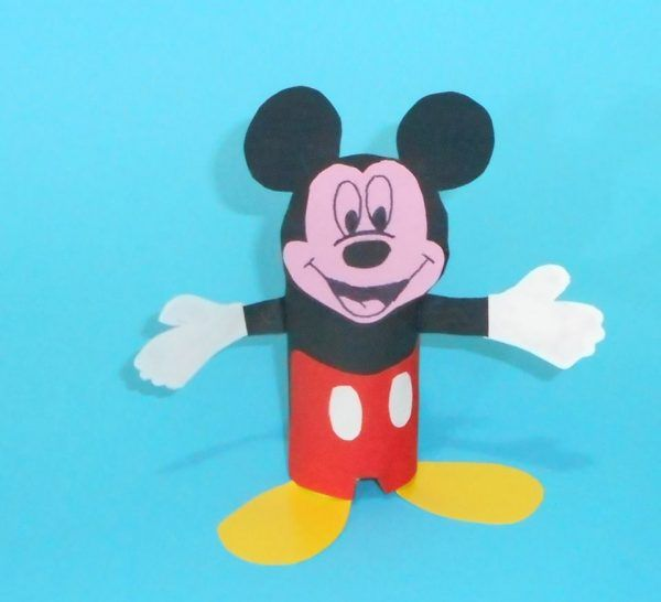 Ongebruikt How To Create A Mickey Mouse From Toilet Paper Roll | Mickey mouse II-17