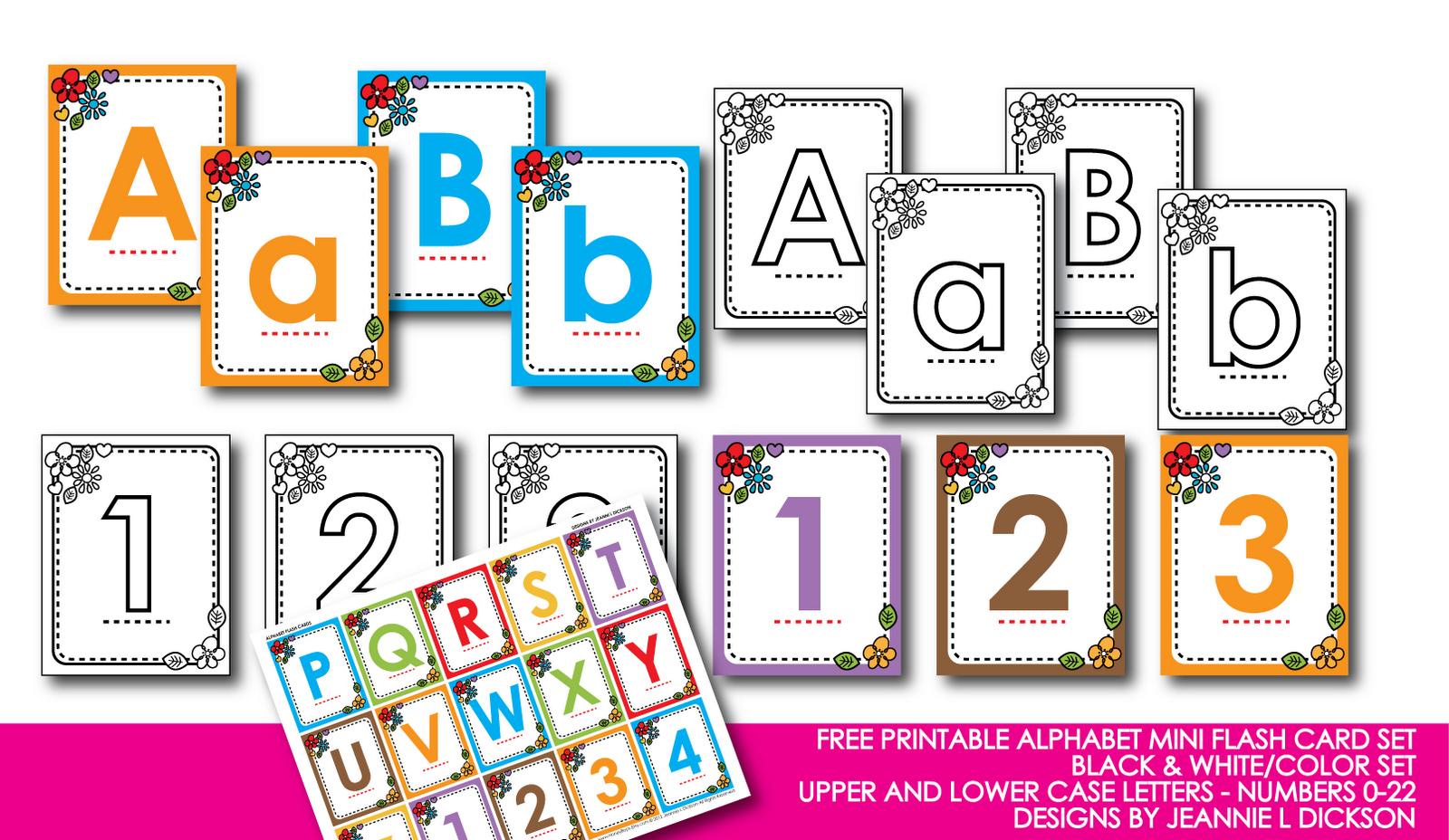 Printable Flash Cards Alphabet Printables Abc Flashcards