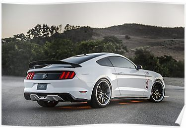 '2015 Ford Mustang GT' Poster by Kawaii Co