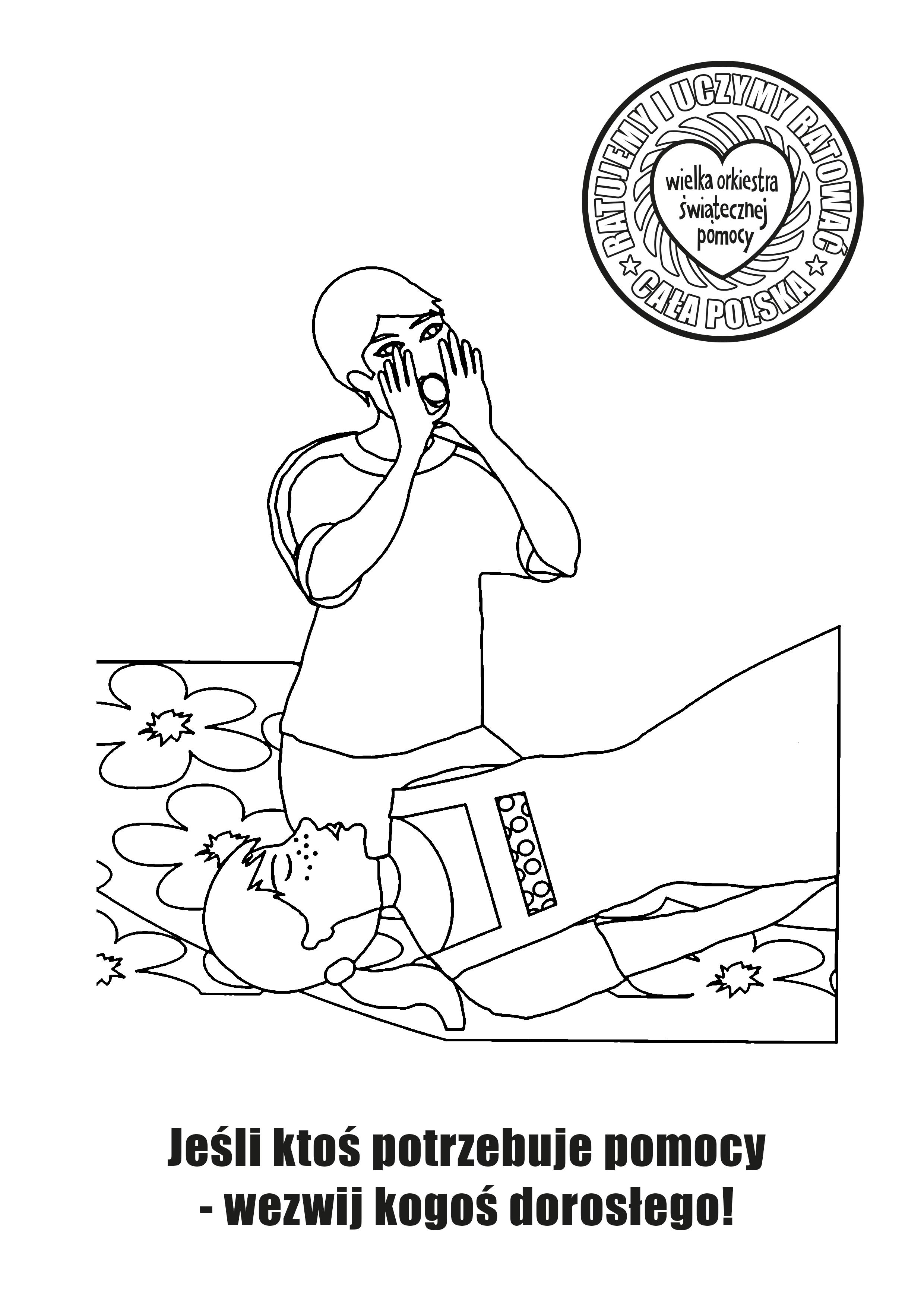 Kolorowanka Na Zajecia Z Pierwszej Pomocy W Szkole First Aid Edukacja Education Children Szkola Scho First Aid Classes Schools First Coloring Books
