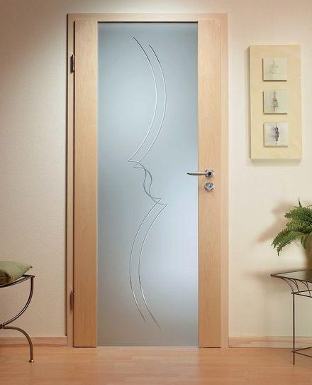 Fotos de puerta batiente vidrio templado caoba roble for Puertas de cristal templado