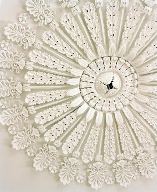 Ceiling ornament in the William Gatewood House, Charleston, SC.