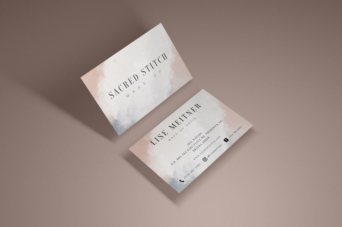 Scared Stitch Business Cards Elegant Business Cards Business Card Template Personal Business Cards