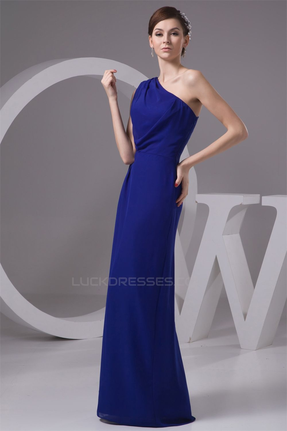 Floor length chiffon one shoulder long blue bridesmaid dresses floor length chiffon one shoulder long blue bridesmaid dresses under 100 02010099 ombrellifo Image collections