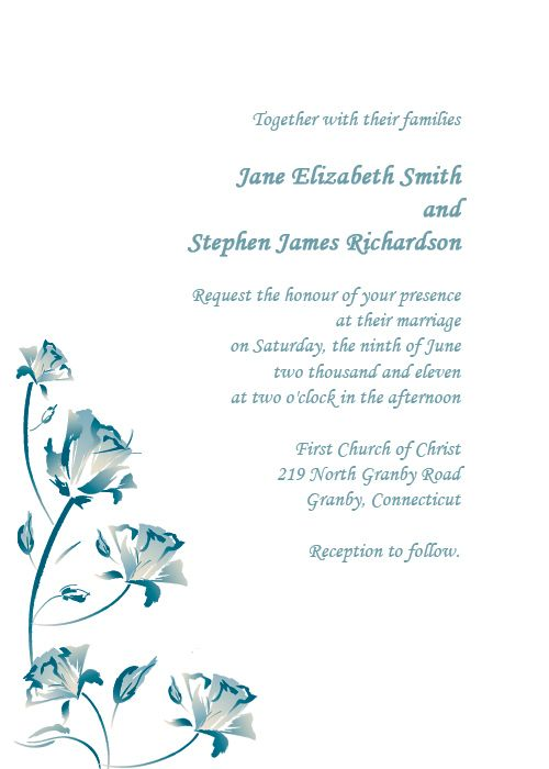 Watercolor Roses Free Wedding Invitation Template | Printable ...