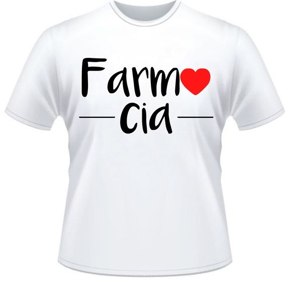 dcd4f6b8f2 Camiseta Curso Farmácia