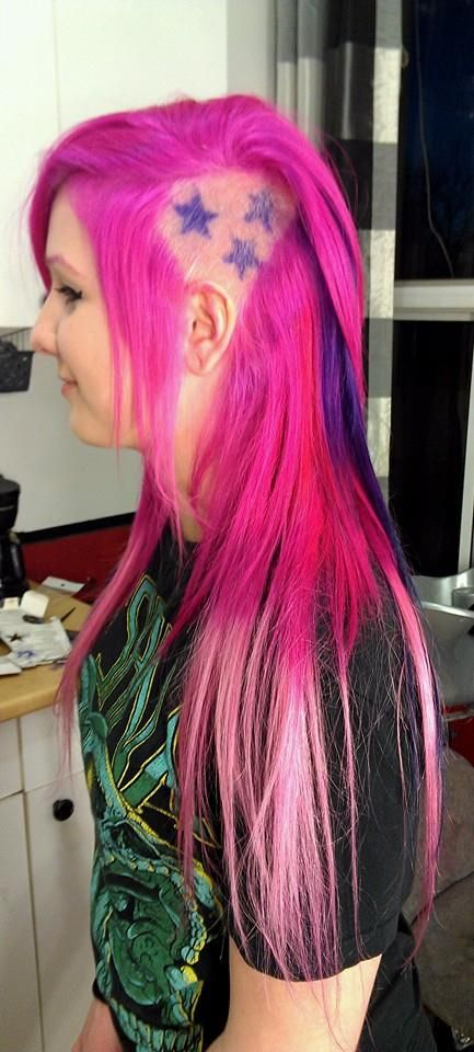Elumen Pink And Pravana Pastel With Tape Extensions
