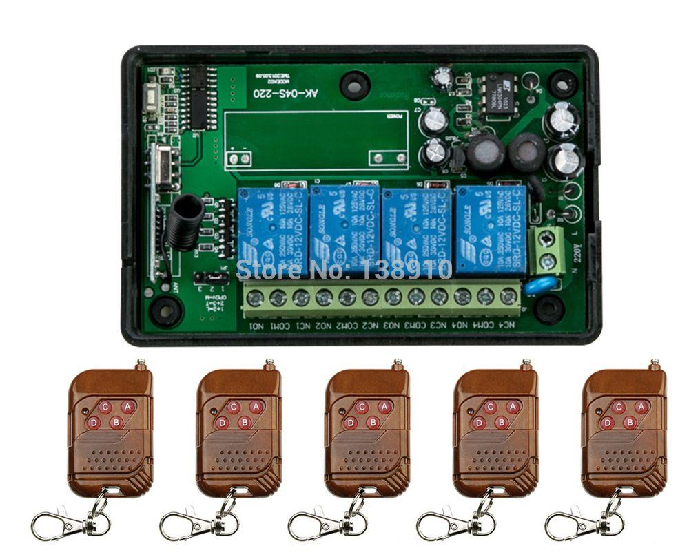 Garage Afstandsbediening Kopieren : Click to buy u003cu003c ac85v 250v 110v 220v 240v 4ch rf wireless remote