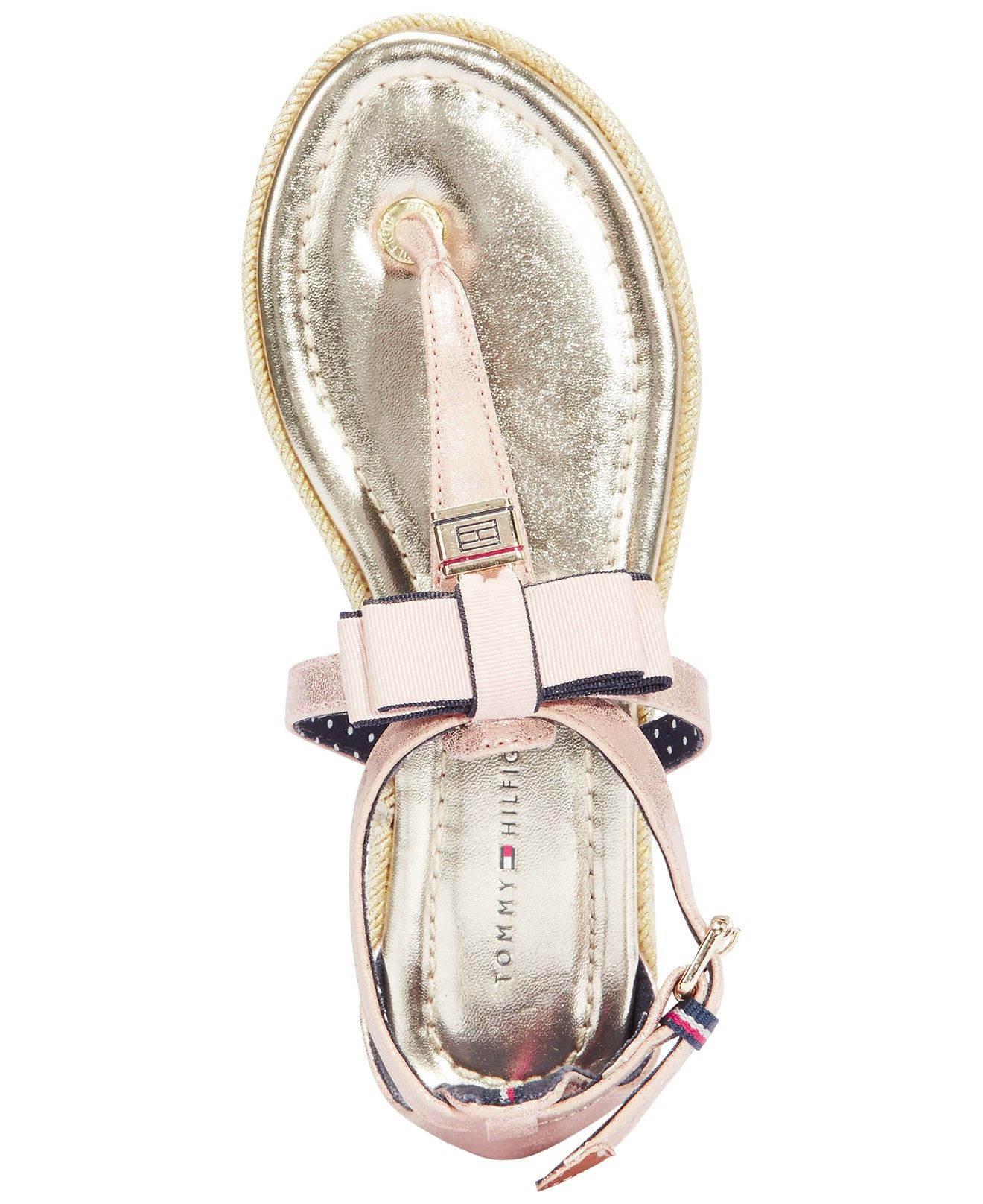122249e0 Tommy Hilfiger Girls' or Little Girls' Sandy Lock Charm Sandals - Kids  Girls Shoes - Macy's