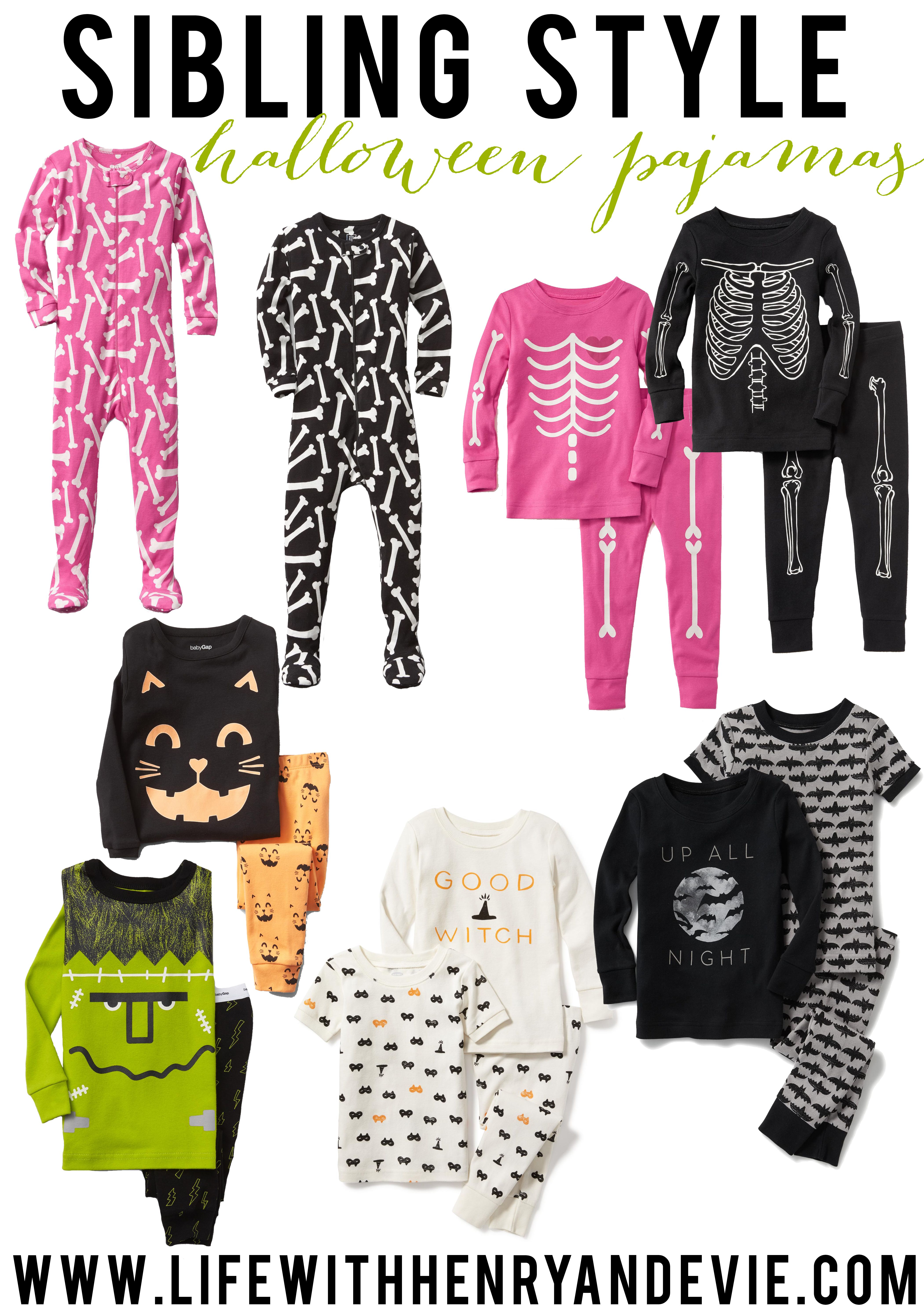 sibling style: halloween pajamas | kid fashion | pinterest