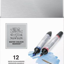 Winsor Newton Water Colour Markers 12 Set Box Rotuladores