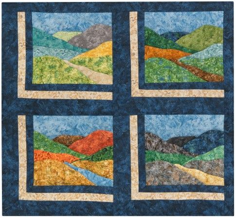 Quot Down The River Or Road Quot Quilt Pattern Designed By Kathie