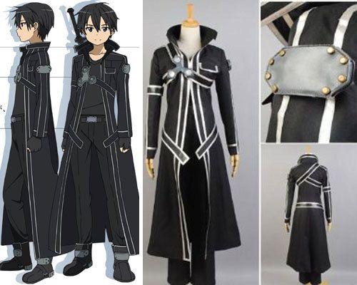 84ad557516890 Kirito Kazuto Kirigaya Custom Cosplay Costume Outfit from Sword Art ...