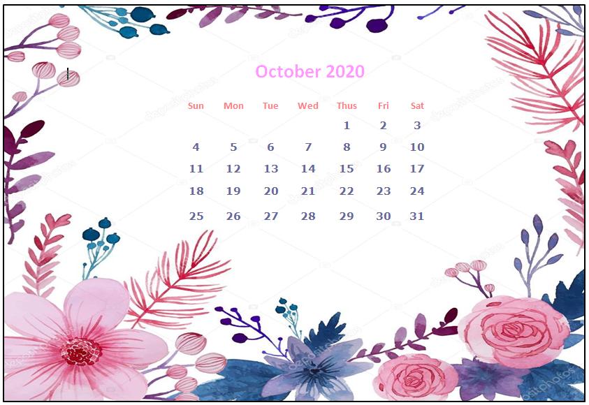 October 2020 Desktop Calendar Wallpapers Calendar Wallpaper Desktop Calendar Calendar
