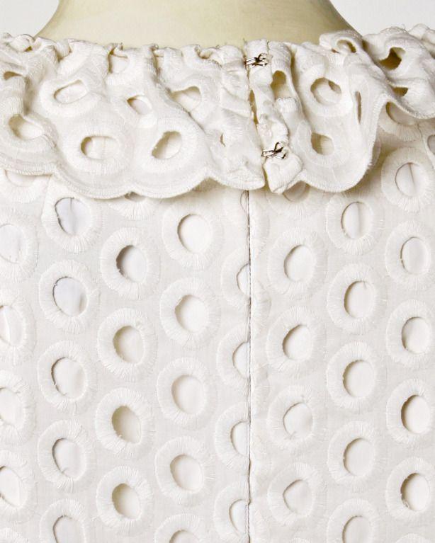Cream cotton eyelet lace