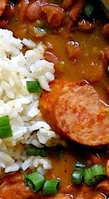 Louisiana Red Beans & Rice #cajunandcreolerecipes