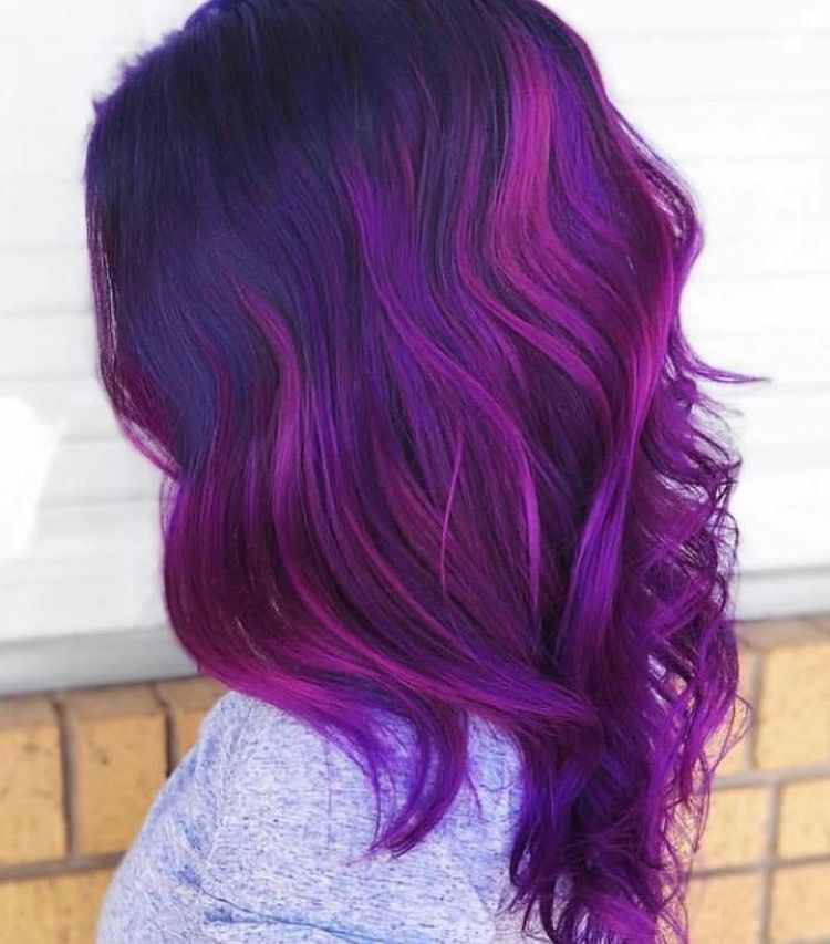 63 Purple Hair Color Ideas To Swoon Over Violet Purple Hair Dye Tips: Pin By Ashley Wright On Hair