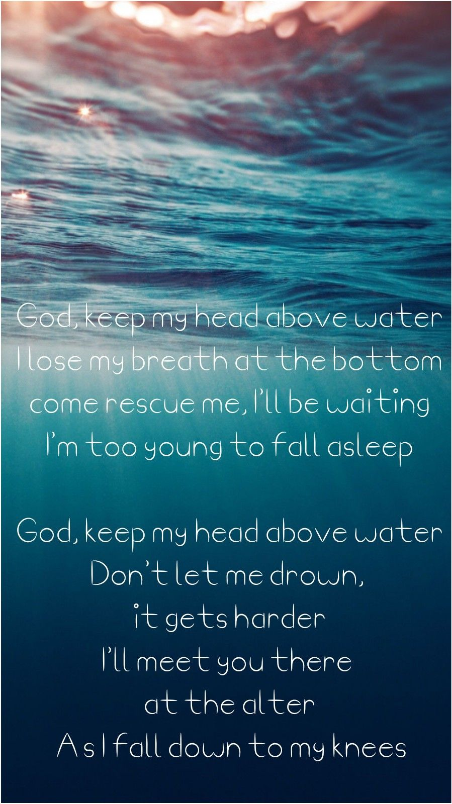 Head Above Water Avril Inspirational Song Lyrics Here Lyrics Lyrics To Live By