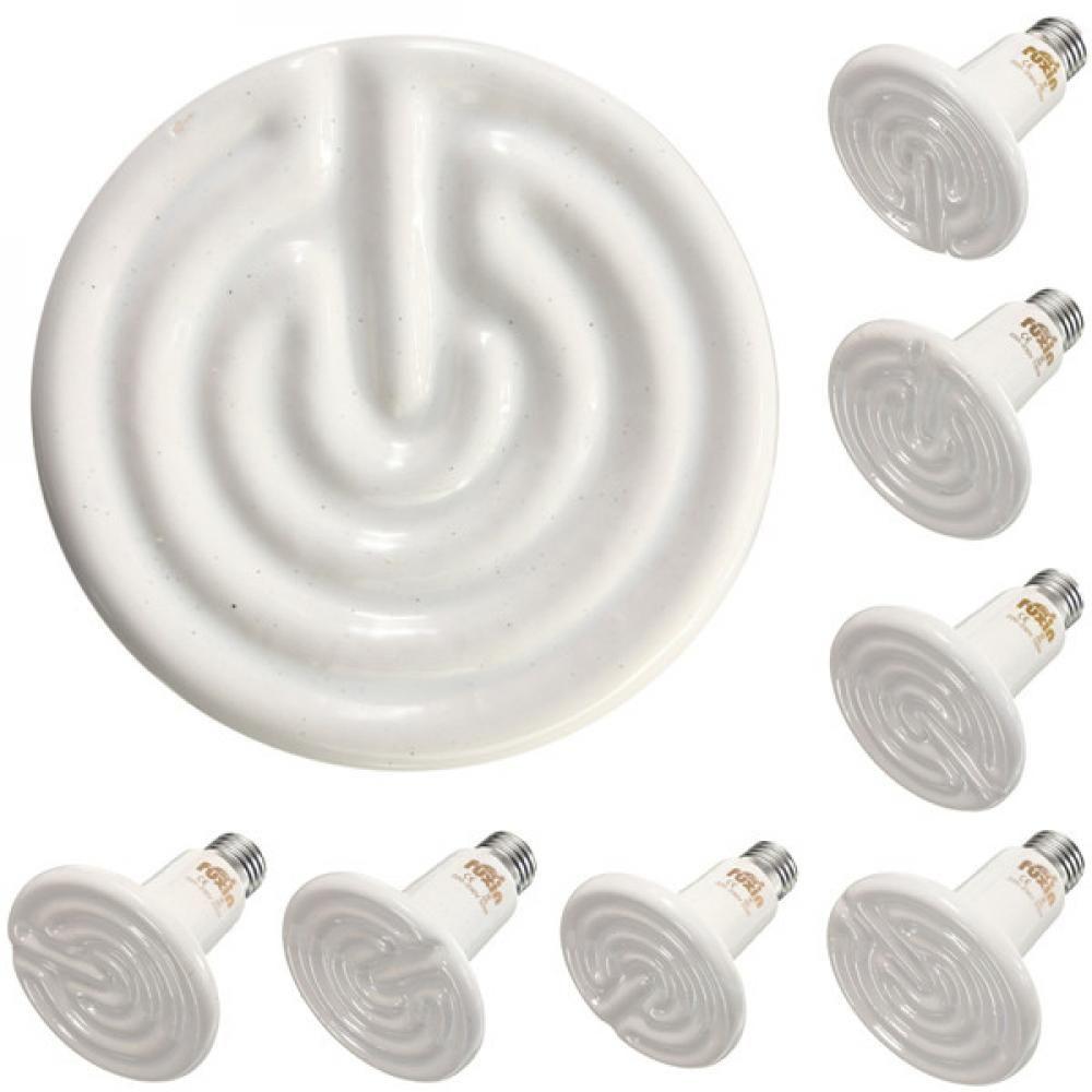 Diameter 90mm Ceramic Emitter Heated Pet Appliances Reptile Heat Lamp 25w 50w 75w 10 In 2020 Reptile Heat Lamp Heat Lamps Lights