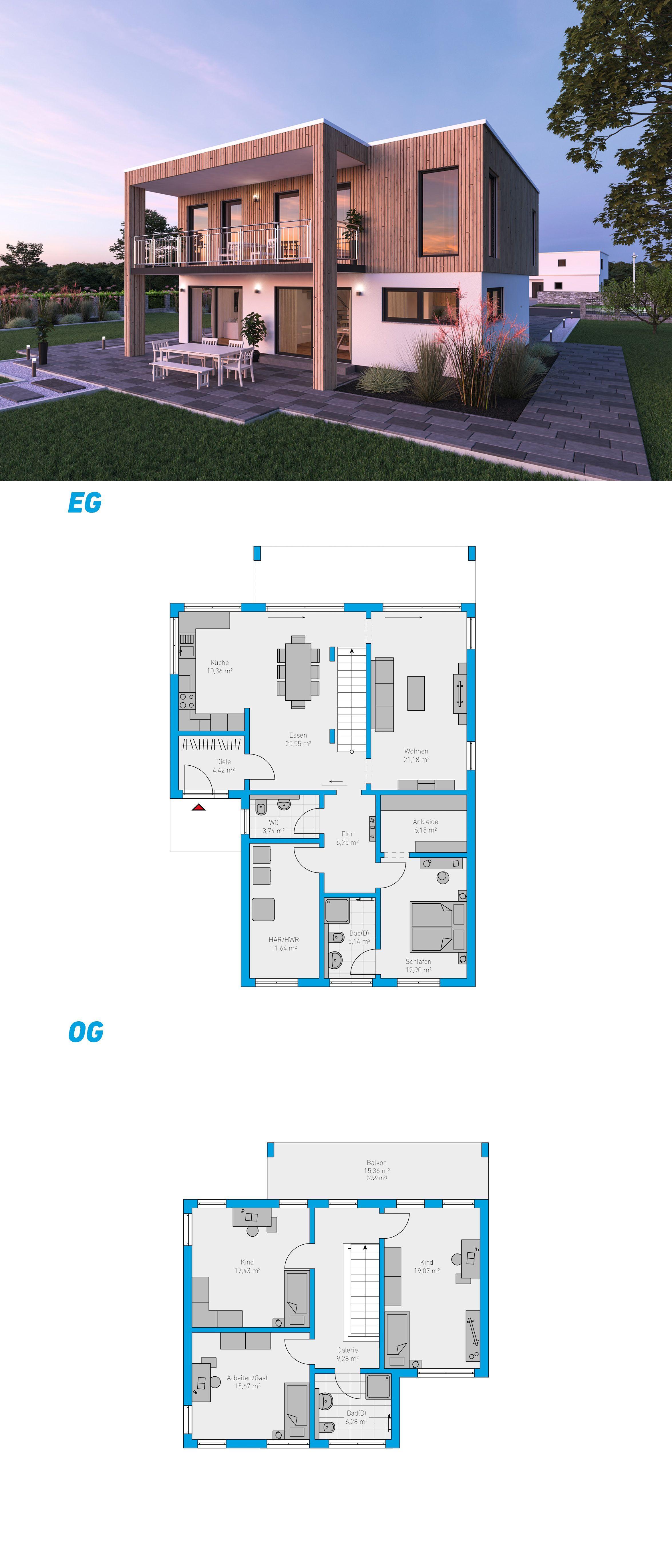 Alea 190 schlüsselfertiges Massivhaus 2geschossig