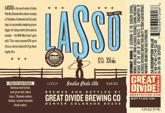 Great Divide Introduces Lasso Ipa The Lowest Alcohol Beer In Its