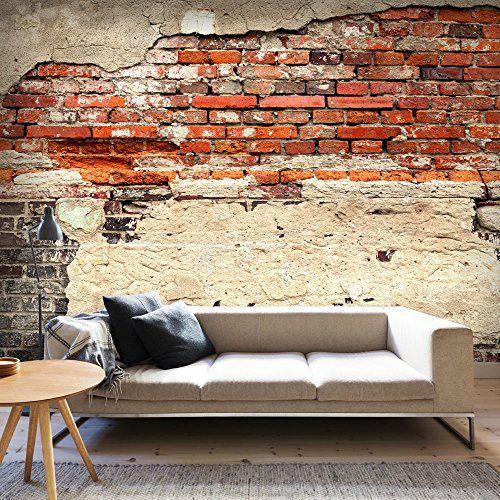Fotomural adhesivo con pared de ladrillos rojizos muy for Fotomurales grandes y baratos