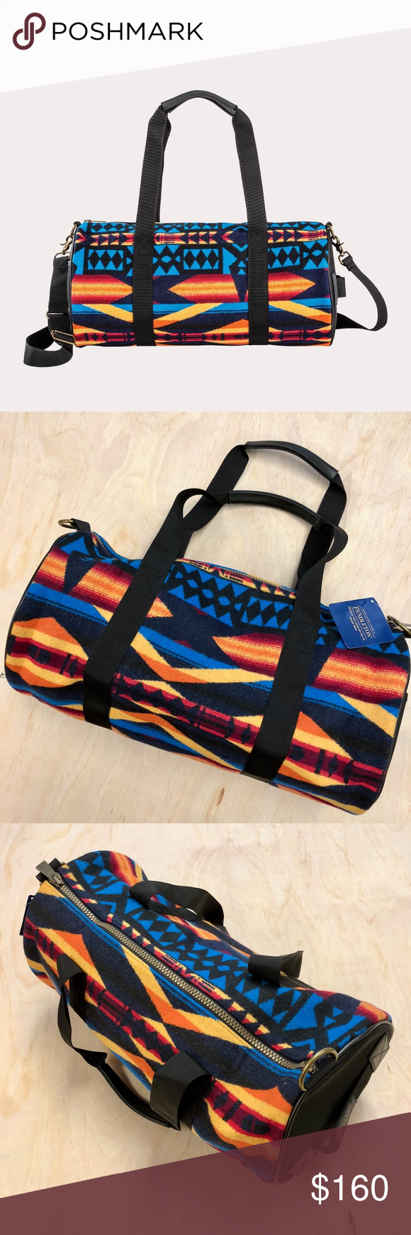 Pendleton Mills La Paz Aztec Round Duffle Gym Bag - About Us   Capital City  Hype ebefdbd9c2e62