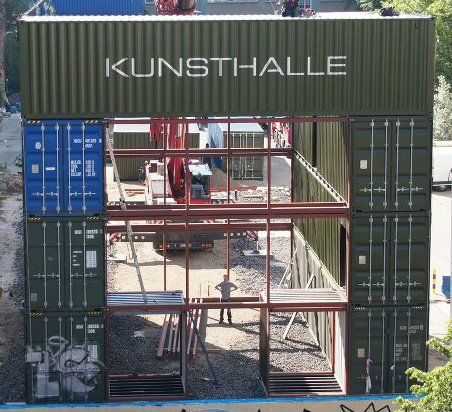 Shipping Container Homes: Platoon, Kunsthalle - Berlin, Germany - 40 Shipping Container Cargotecture Building http://homeinabox.blogspot.com.au/2012/10/platoon-kunsthalle-berlin-germany-40.html