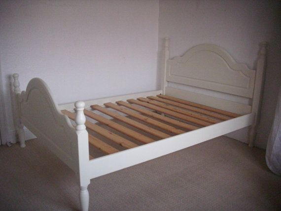 Beautiful Solid Pine Double Bed Frame Hand By Redcottagefurniture 195 00 Bed Makeover Pine Bed Frame Vintage Bed