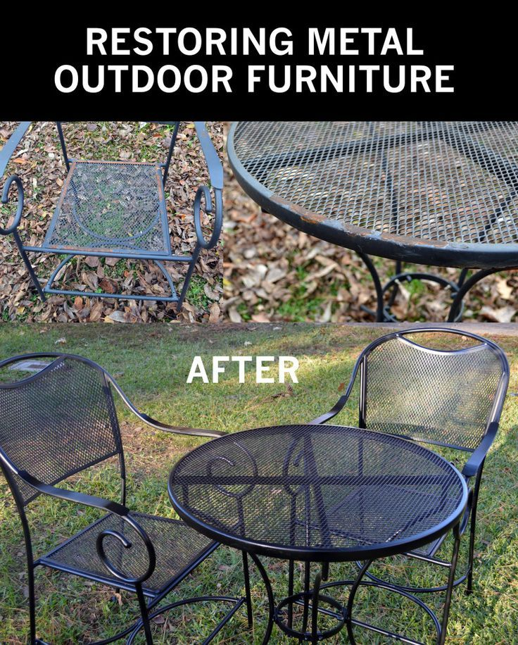 restore metal outdoor furniture to like new jessica s rental rh pinterest com restore wrought iron patio furniture restore wrought iron patio furniture