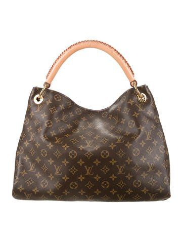 Louis Vuitton Monogram Coated Canvas artsy Mm Shoulder Handbag Purse l9DIZ