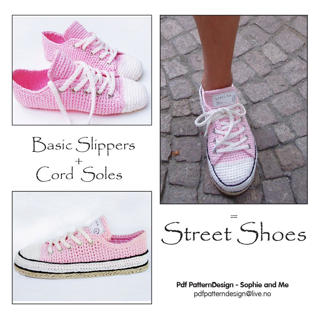 E-Book for Sneaker Classic Crochet Slippers por PdfPatternDesign ...
