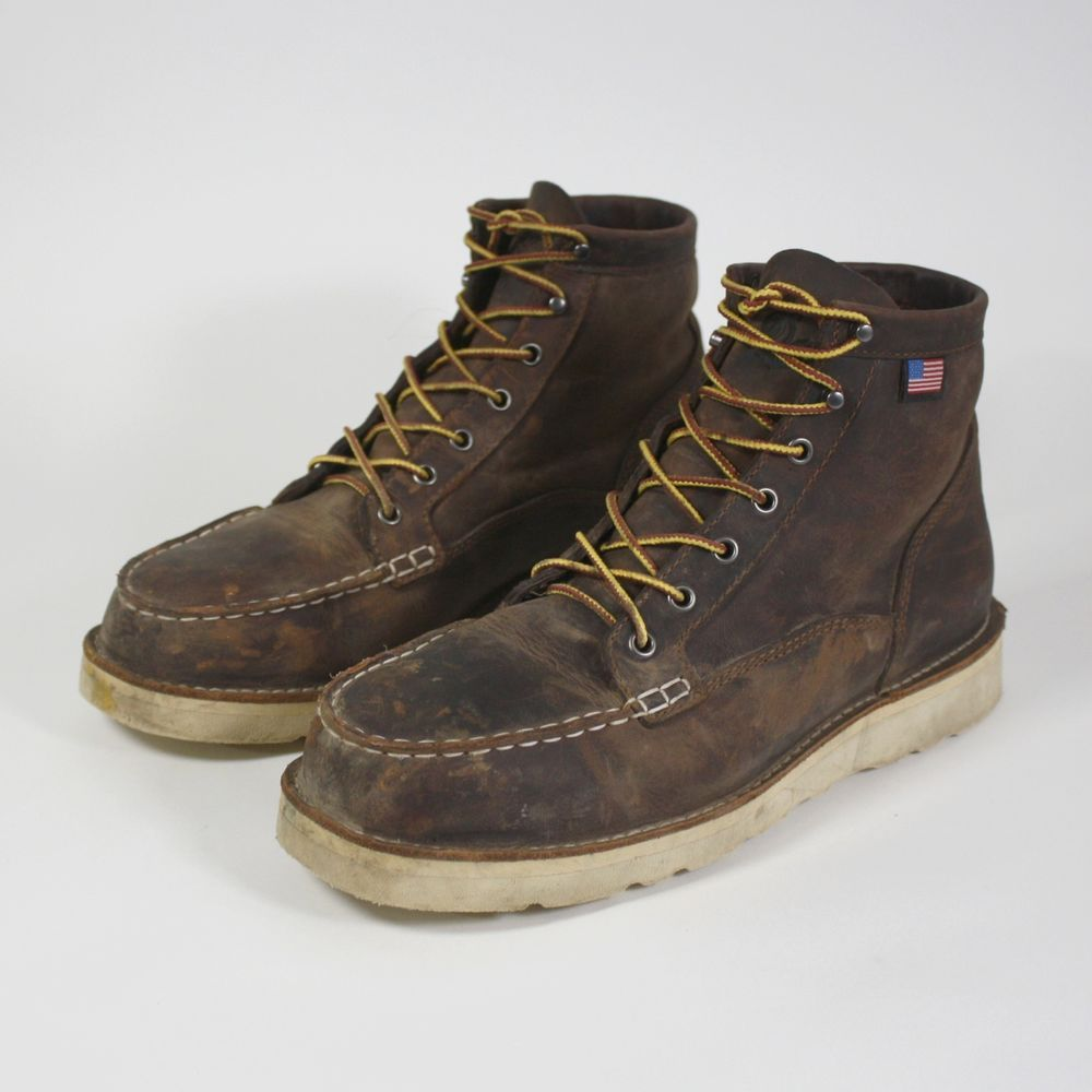 0bbd2c5092e Danner Bull Run Moc Toe Work Boots Mens Size 11 D Brown Leather ...