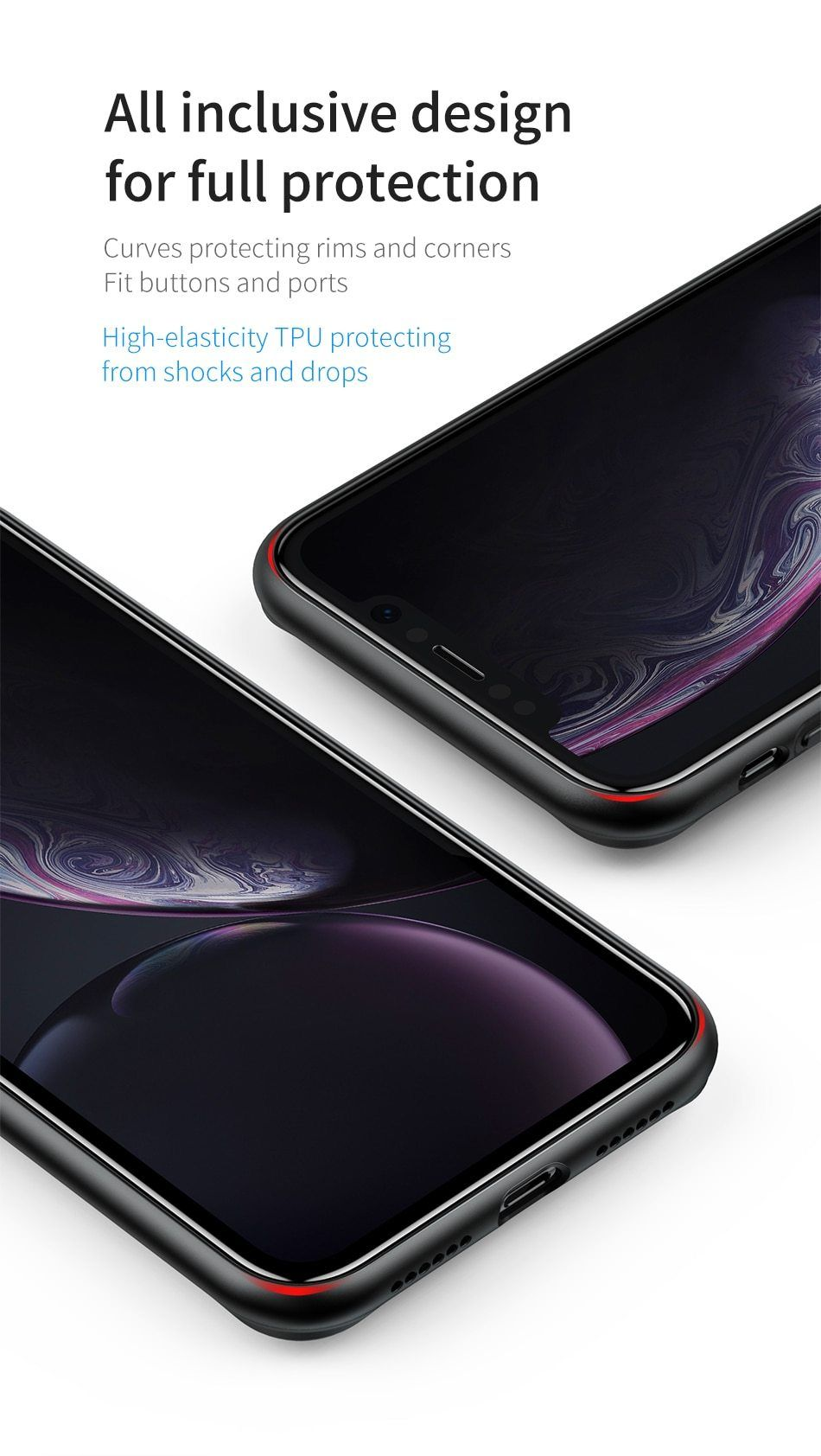 Finger ring holder case for iphone xs max xr x with