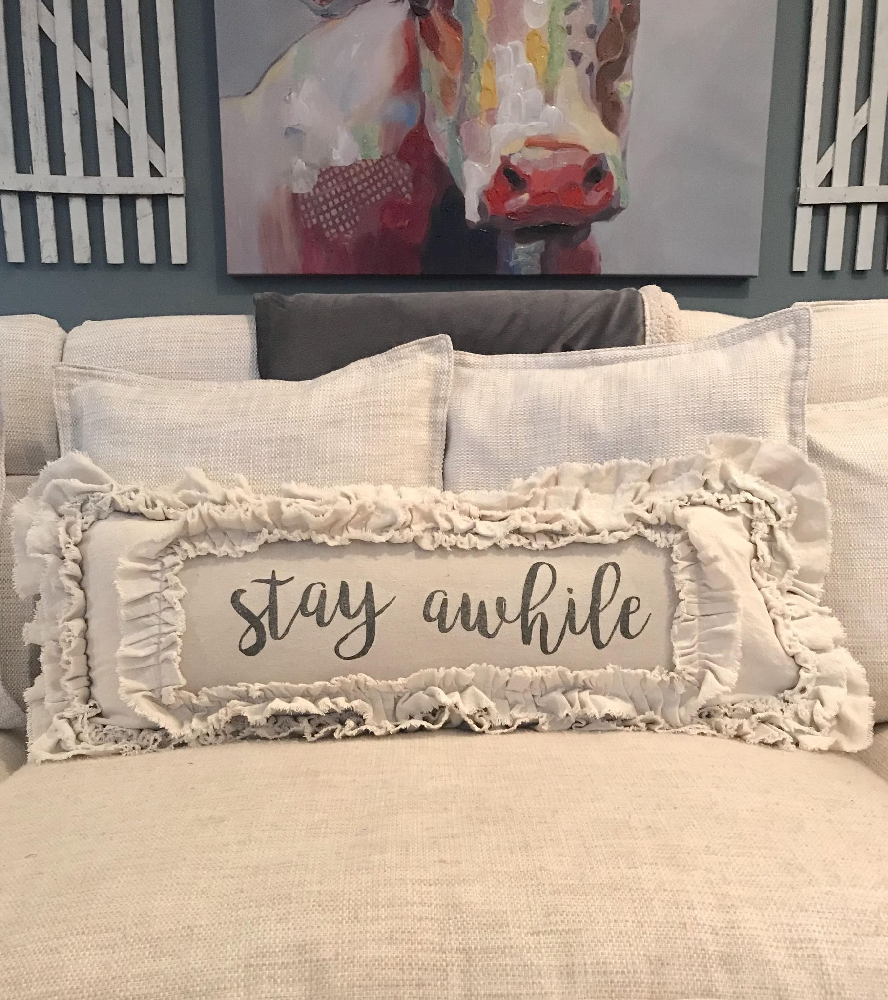 1effb5a35d36 Handmade Vintage Inspired Stay Awhile Pillow Cover – Farmhouse Fresh Home