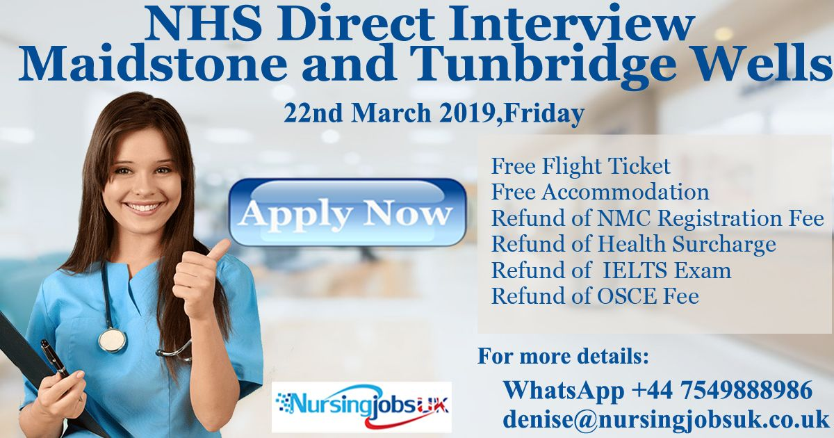 NHS DIRECT INTERVIEW MAIDSTONE AND TUNBRIDGE WELLS Click