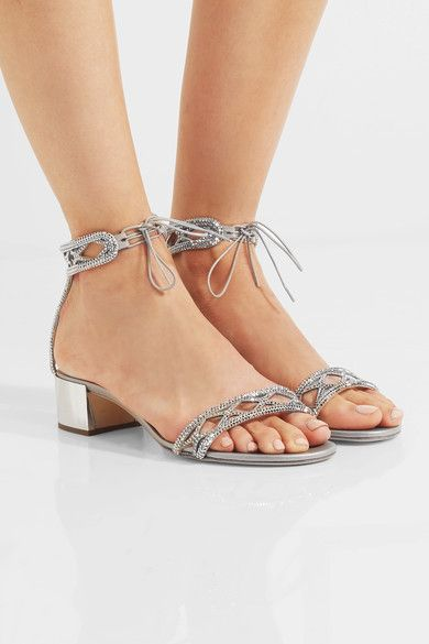 factory outlet buy cheap countdown package René Caovilla Embellished Satin Sandals nPBrNzayUC