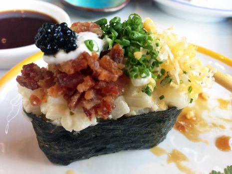 Loaded Baked Potato Sushi Roll - Blue C Sushi