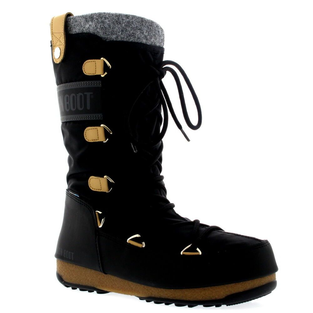 pretty nice da82c 2e42c Womens Tecnica Original Moon Boot Monaco Felt Waterproof Mid ...