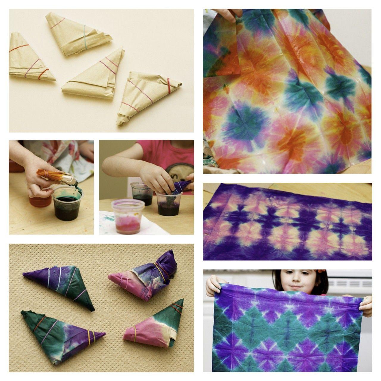 Rainbowsandunicornscrafts diy tie dye tissue create wonderful way to introduce kids to tie dye without using real dye tutorial from land of nod here baditri Gallery