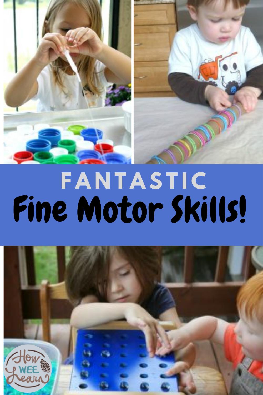 Fabulously Fantastic Fine Motor Activities Fine Motor Activities Preschool Craft Activities Motor Skills Activities