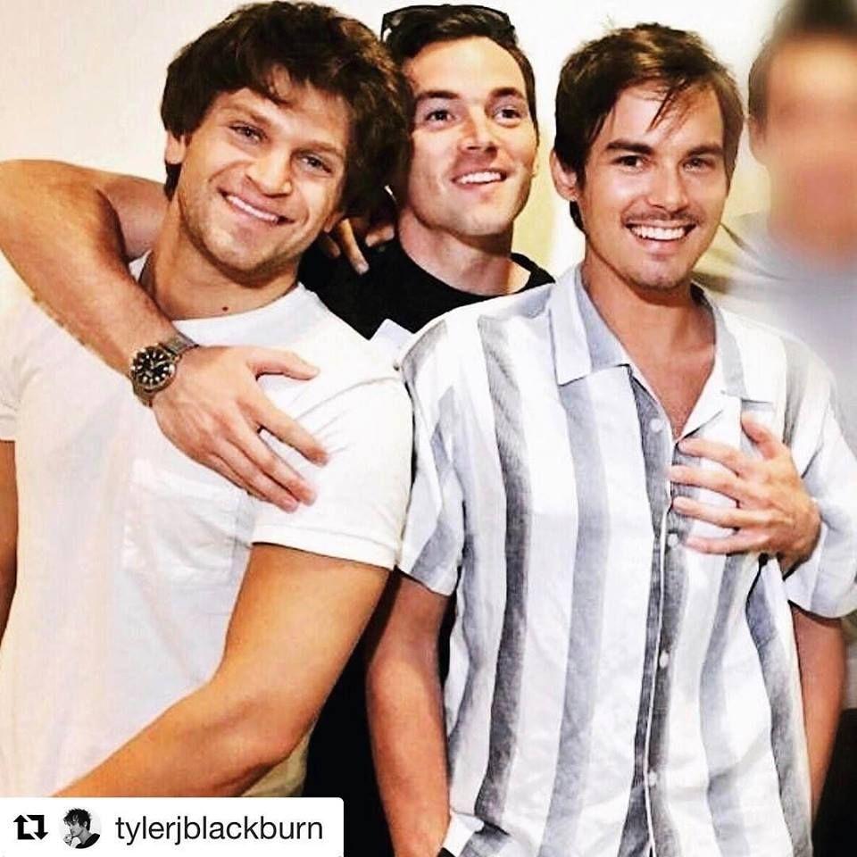 PLL men Keegan Allen (Toby), Ian Harding (Ezra) and Tyler Blackburn (Caleb)