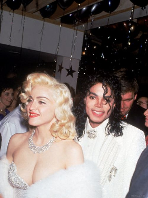 Madonna and Michael Jackson at 1991 Oscars, looking like the Prom Queen and King