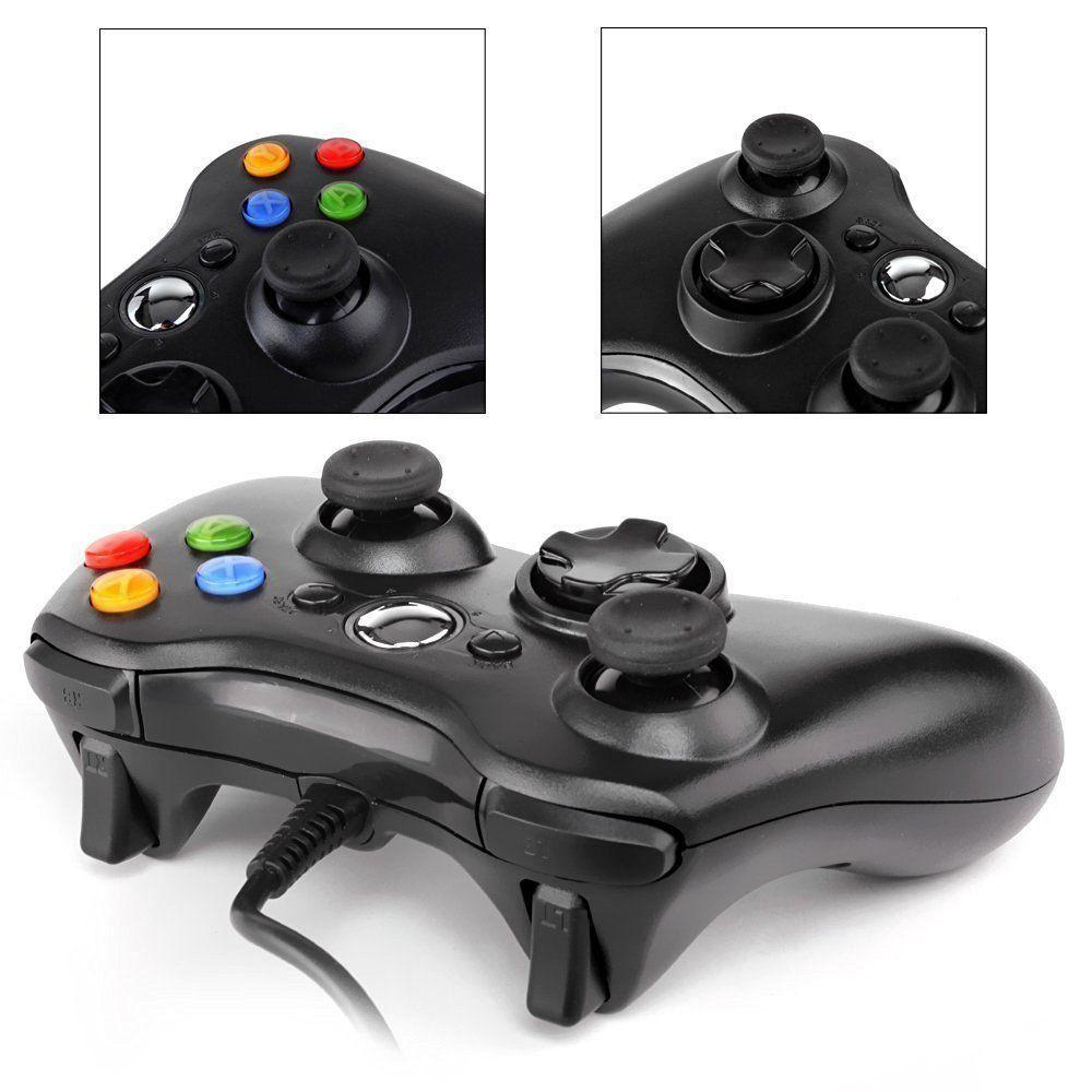 Controller joystick joypad xbox 360 wired con cavo filo usb ...