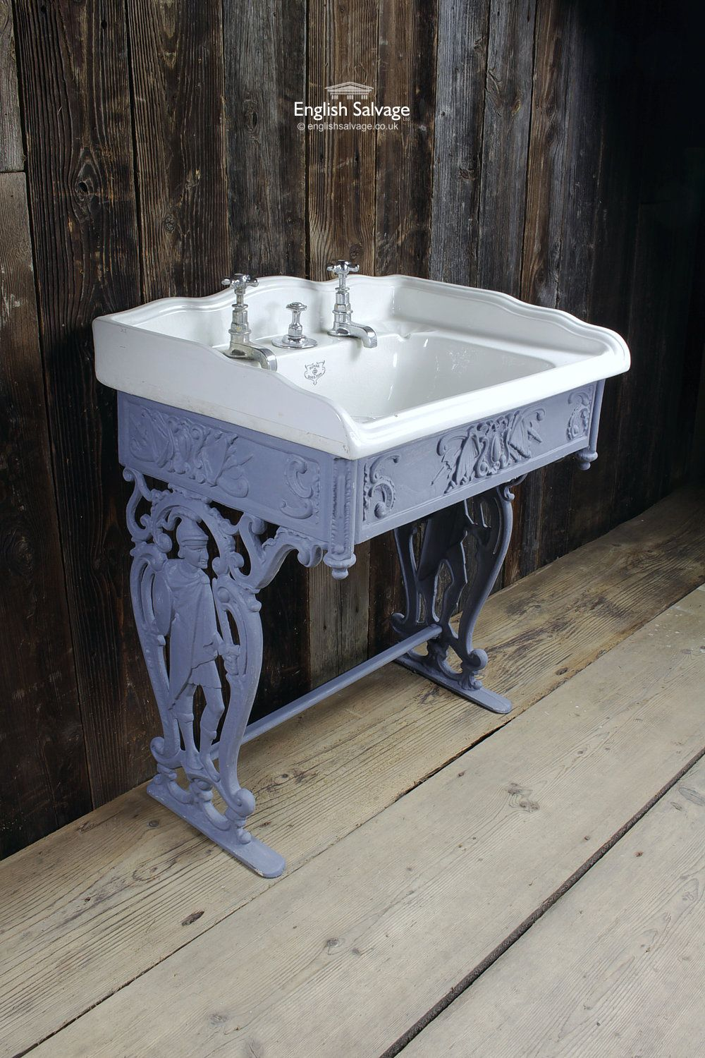 Shanks sink and stand reclaimed porcelain sinks and chrome stands - Royal Doulton Basin With Decorative Stand